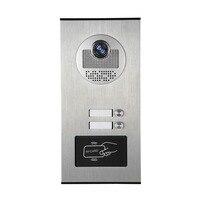 YobangSecurity Metal Aluminum Outdoor RFID Access Door Camera For 2 Units Apartment Video Intercom Doorbell Door