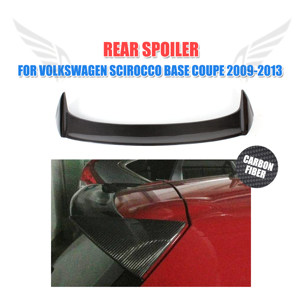 Carbon Fiber Rear Roof Spoiler Lip Trunk Wings for Volkswagen VW Scirocco Standard Coupe 2009 2013 O Style FRP Unpainted Non R