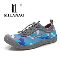 2016 MILANAO Comfortable Breathable Lycra Mesh Fresh Men Women Athletic Botas Trekking Outdoor Sport Sneaker Running