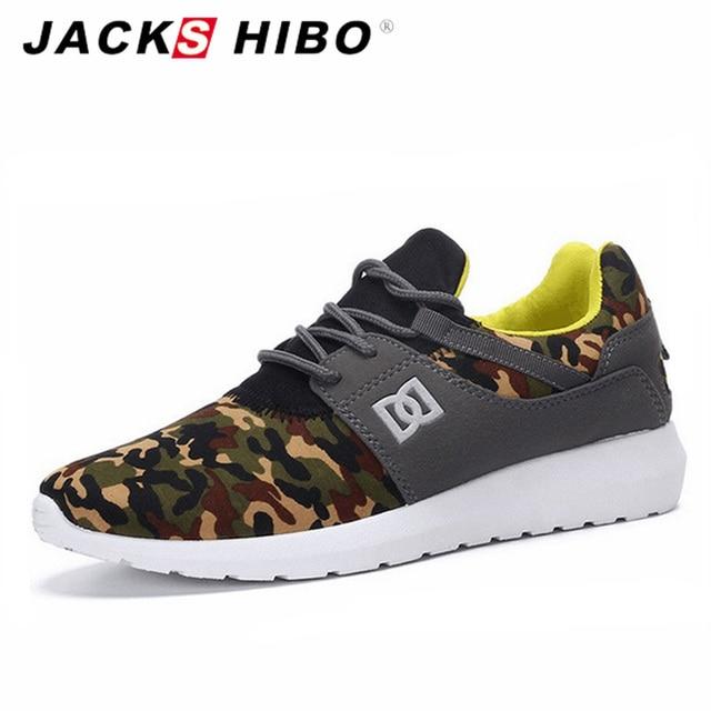 JACKSHIBO Casual Hombre Army Green Mens Shoe