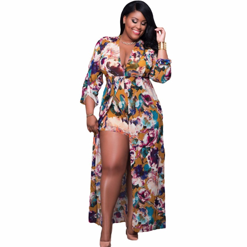 Plus-Size-Sleeved-Floral-Romper-Maxi-Dress-LC64221-22-1_conew1