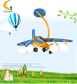 E27 rotatable children's room bedroom aircraft lamp led ceiling lamp creative cartoon boy Pendant Lights