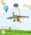 E27 rotativo aeronave lâmpada conduziu a lâmpada do teto do quarto quarto das crianças criativa dos desenhos animados menino Luzes Pingente