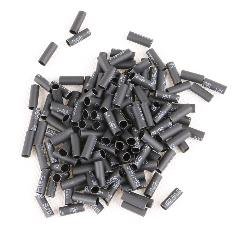 2000 Pieces Black Brown OR Transparent Hair Heat Shrinkable Tubes Links for I Stick Tip Pre-bonded Hair Extensions