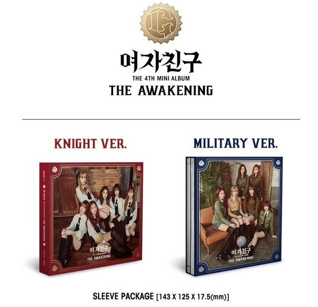GFriend autographed signed mini 4th album The Awakening  KNIGHT MILITARY korean version +signed poster presale 03.2017