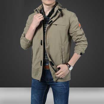 MANLI New Spring Mens Softshell Hiking Jackets Man Coats Tactical Windbreaker Men Waterproof Flight Pilot Coat Hoodie Military