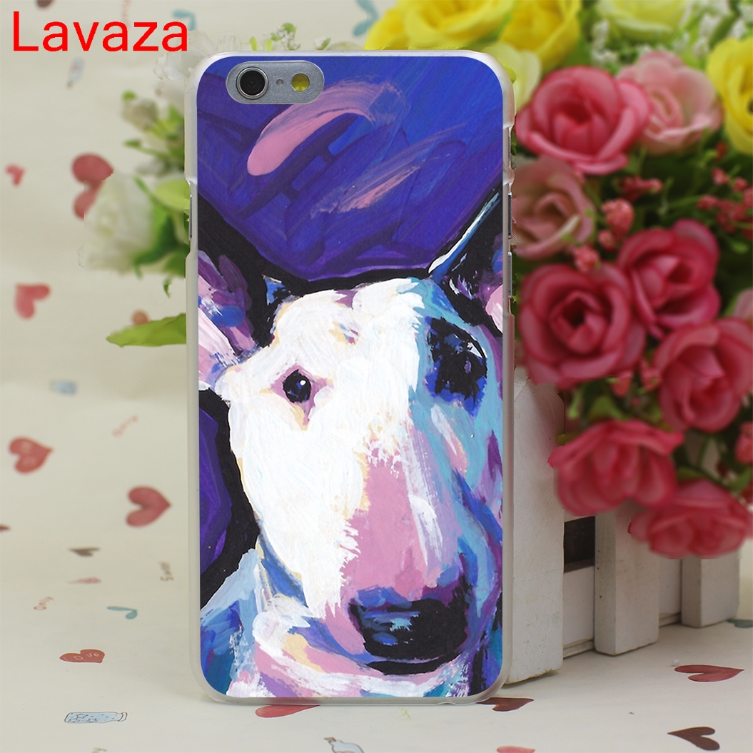 Lavaza Tattooed Bullterrier Cute dog Biaoqing Hard Case for iphone 4 4s 5c 5s 5 SE 6 6s 6/7/8 plus X for iphone 7 case