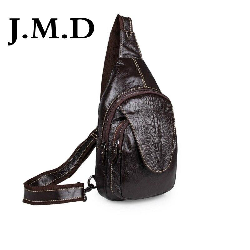 Vriendelijk Jmd 100% Uitstekende Lederen Borst Bag Alligator Patroon Vintage Heren Borst Pakken Schoudertas Messenger Bag Handtas 7301