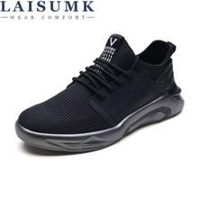 купить LAISUMK Hot Men Casual Shoes Fashion Soft Breathable Zapatos hombre Lace-up Comfortable Male sneakers дешево