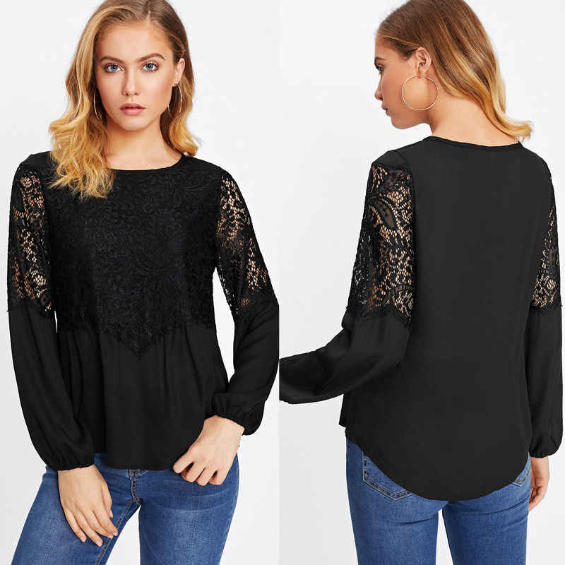 Модная женская белая черная Лоскутная Высококачественная Свободная Повседневная летняя футболка с длинным рукавом размера s-xl