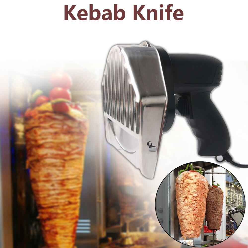GZZT Doner Kebab trancheuse avec deux lames électrique Kebab couteau Shawarma Gyros Cutter Kebab Grill couteau Mural Kebab râpe alimentaire