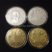 Free Shipping 4pcs Lot RUSSIA President PUTIN GOLD PLATED COINS Crimean Map Athletes Champions And Gold