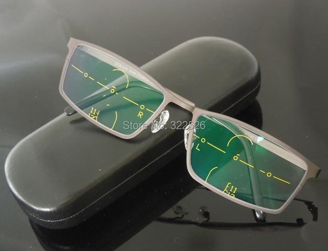 d5361381ad5 Pure Titanium frame+Multi-focal Freeform progressive lenses  bifocal multi-focal  presbyopia reading glasses