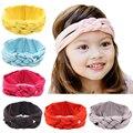 Nova Moda Sólida Hairband Infantis Coloridos Meninas Hairbands Turbante Nó Headband Acessórios de Cabelo Do Bebê da Roupa Do Bebê Frete Grátis