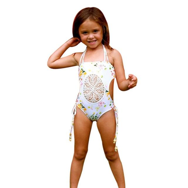 038ada99dc 2017 Kids Baby Girl Floral One Piece Swimsuit Girls Swimwear Bathing Suit  Summer Beach Bikini Clothes For 0~5T