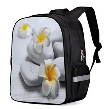 Yellow Flowers And Stones Multipurpose Daypacks Business Daypack Laptop Book Bag Computer Bag Travel Bags Hobo Bags Backpack(China)