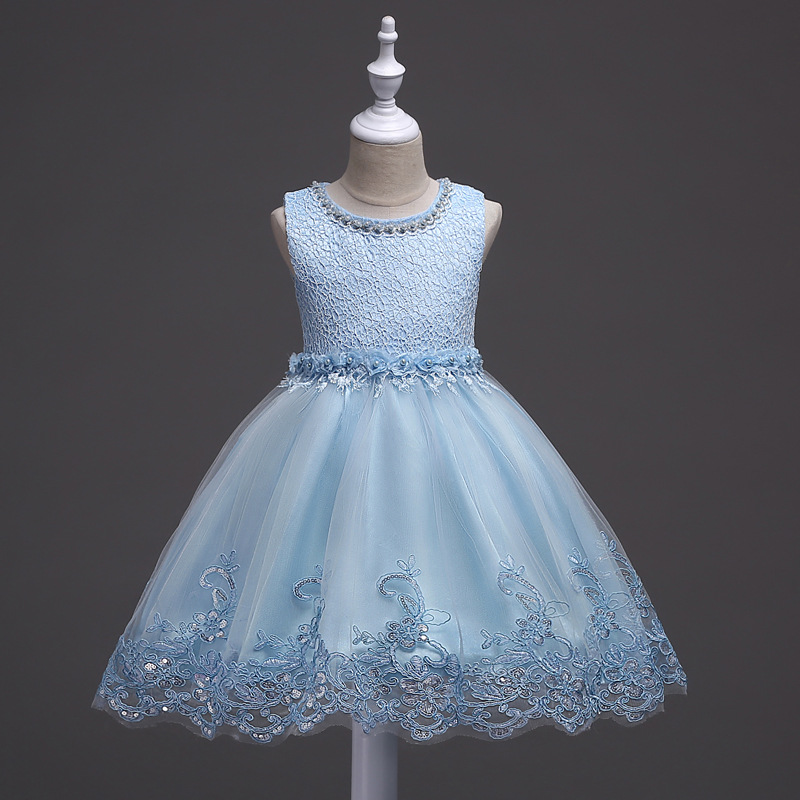3b2ee42d3 Lovely Lace Appliques Beaded Flower Girl Dresses Kids Evening Gowns ...