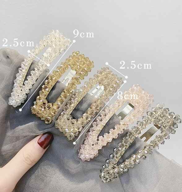 2019 Summer Women Princess Style Imitation Crystal Hairpins Chic Korean Fashion Hair Clips girls hair accessories