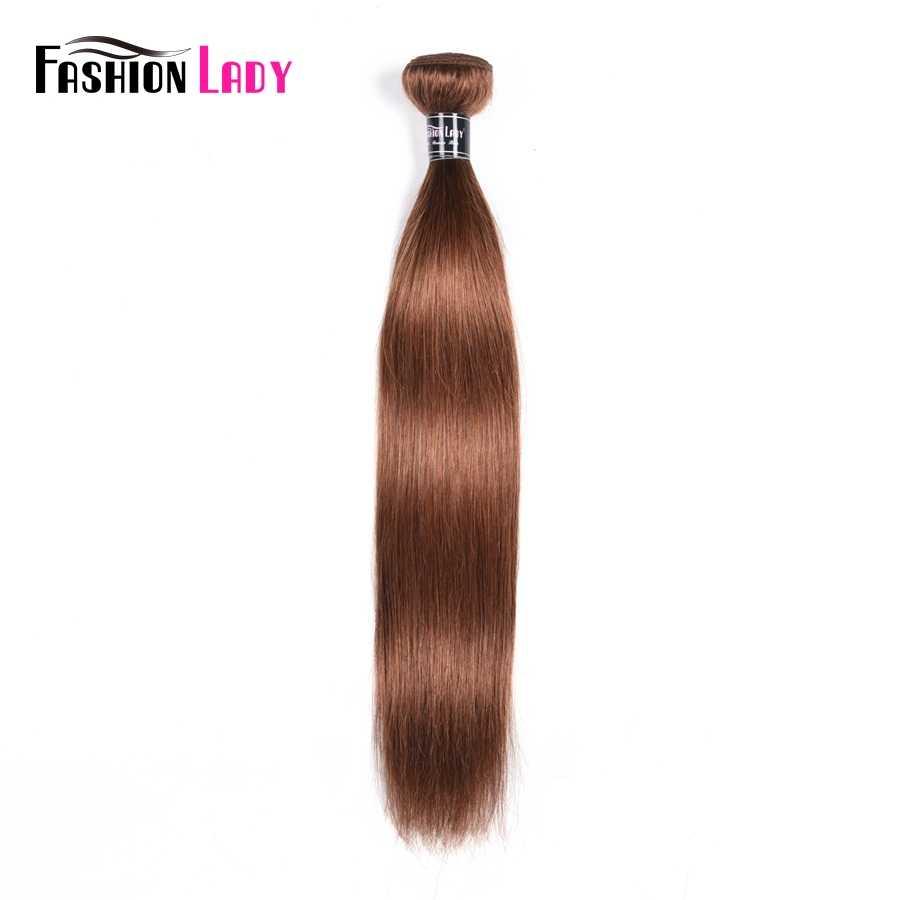 Fashion Lady wstępnie malowane włosy w stylu brazylijskim splot wiązek 8 kolorów do wyboru ludzkich włosów splot pasma prostych włosów non-remy