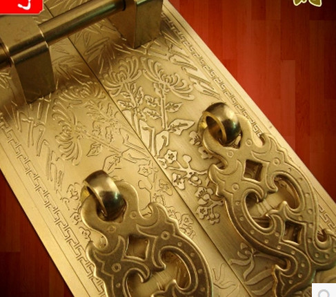 Chinese style antique cabinet copper straight handle cabinet hardware  furniture fittings copper handles - Chinese Style Antique Cabinet Copper Straight Handle Cabinet