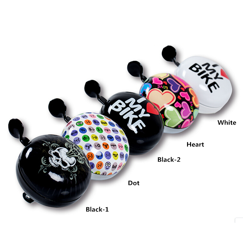 Wholesale Portable SAHOO Colorful Cute Bicycle <font><b>Bell</b></font> 80mm Diameter Cycling Bicycle Horn <font><b>Ding</b></font> <font><b>Dong</b></font> <font><b>Bell</b></font>
