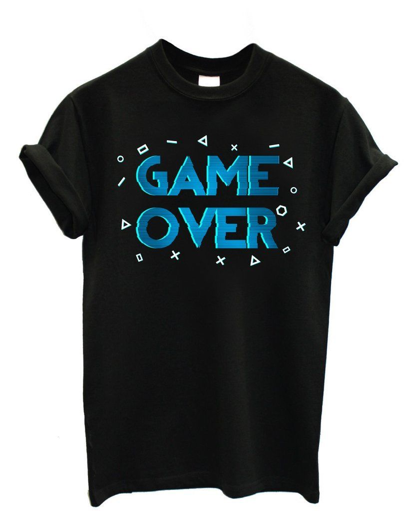 MAGLIA MAGLIETTA T-SHIRT UOMO VIDEOGAME GAME OVER Fashion Summer Paried T Shirts Top Tee ...