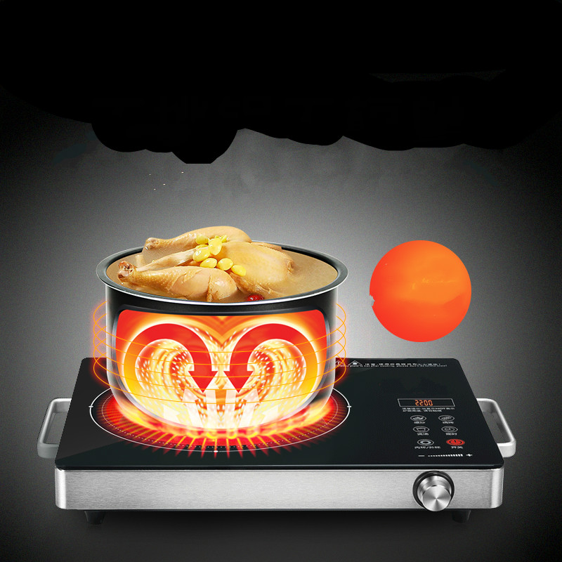 Hot Plates No radiation, no cooking pot, good wife table 3 - ring smart electric ceramic fire pot stir-fry household light wave