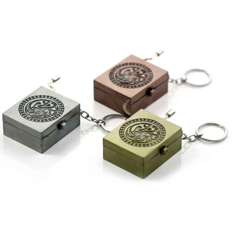 Gryffindor and Game of Throne Hand Crank Movements Parts Music Box Key Chain Music Movement Beautiful Melody Halloween Gifts
