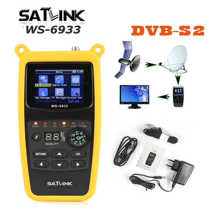 WS6933 Satlink WS 6933 DVB S2 FTA CKU Band Satlink Digital Satellite Finder Meter WS 6933