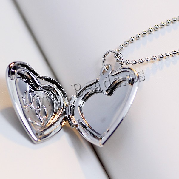 Paw and heart locket necklace aloadofball Gallery