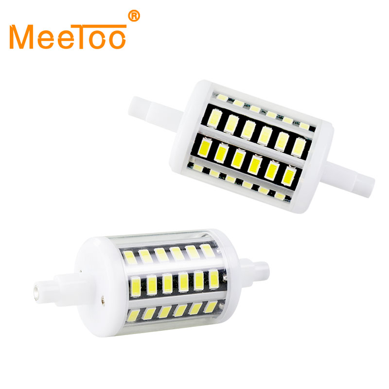 Meetoo r7s led bulbs tubes smd5730 85 265v 5w 10w 15w 20w 78mm 118mm 135mm 189mm led bulbs home for R7s led 118mm 20w