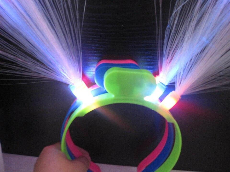 20pcs / lot Svijetleći LED vlakna rog stranka žare traka za kosu - Za blagdane i zabave - Foto 3