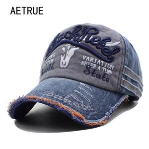 AETRUE Brand Men Baseball Caps Dad Casquette Women Snapback Caps Bone Hats For Men Fashion Vintage Hat Gorras Letter Cotton Cap(China)