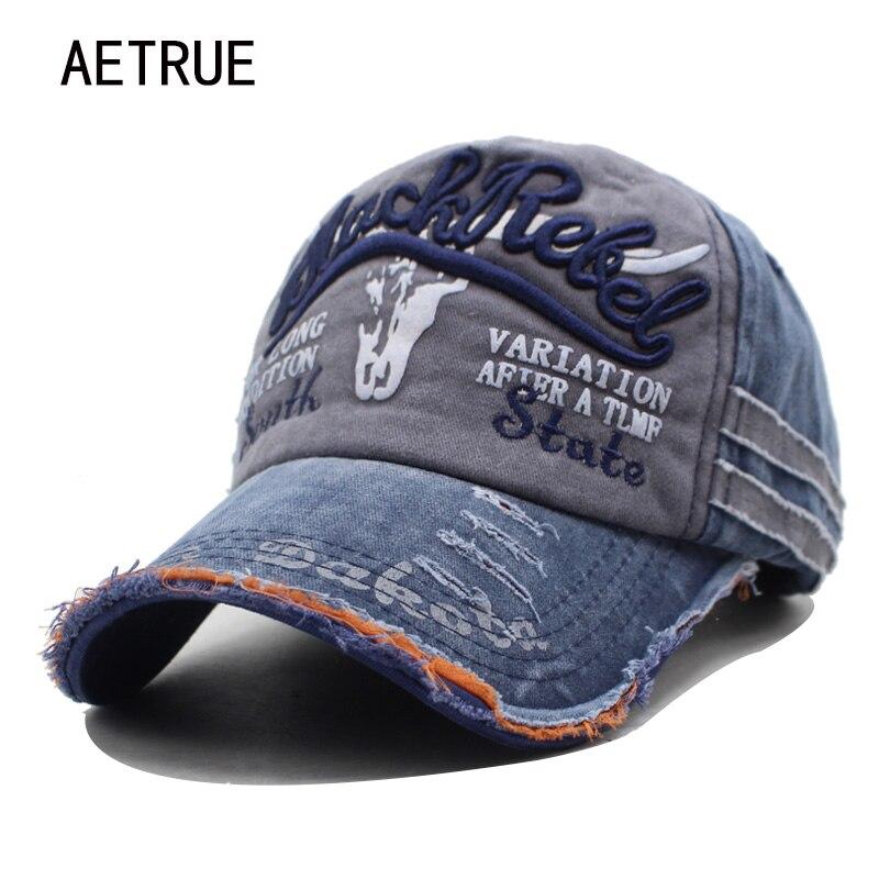 Gorra de béisbol de marca AETRUE para hombre Gorras de béisbol papá casquetas para mujer Gorras de hueso para hombres gorra Vintage de moda gorra de algodón con letras