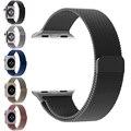 Milanese laço banda para apple watch série 1 2 alta qualidade ligação pulseira de aço inoxidável bandas strap para apple watch 42mm 38mm