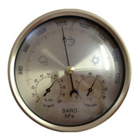 No Battery operated Aneroid Barometer Hygrometer Thermometer 132mm daimeter