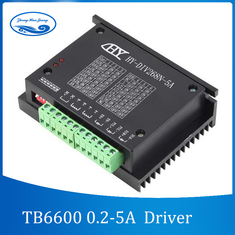TB6600 0,2-5A controlador CNC, controlador de motor paso a paso nema 17,23, tb6600 eje único motor paso a paso híbrido de dos fases para cnc