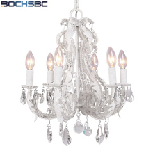 Lámpara colgante BOCHSBC americana de cristal para salón estudio comedor