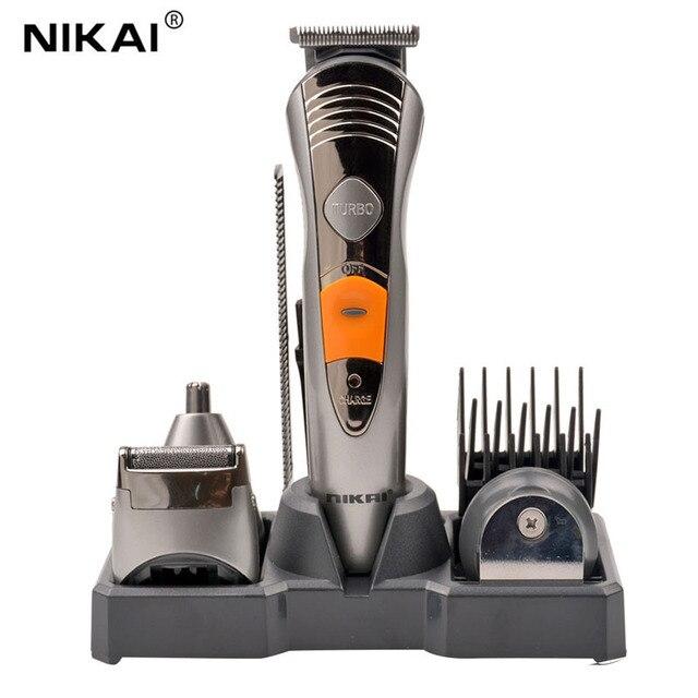 Kemei 7-в-1 Моющиеся Электрический Машинка Для Стрижки Волос Триммер для Мужчин Детские Аккумуляторная Борода Бритва Нос Триммер Главная Стрижка Инструмент