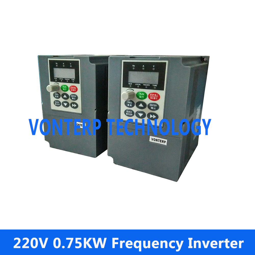 0.75kw 220V-240V Variable Frequency Drive 4.5A VFD Inverter, 220V 1 phase input and 220v 3 phase output  Motor Speed Controller0.75kw 220V-240V Variable Frequency Drive 4.5A VFD Inverter, 220V 1 phase input and 220v 3 phase output  Motor Speed Controller