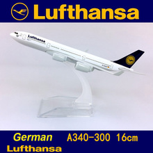 1:400 Air German Lufthansa airplane airbus A340-300 model with base alloy aircraft plane collectible display toy 16CM model new product phoenix 1 400 11347 saudi airways a330 300 hz aqe alloy aircraft model collection model holiday gifts