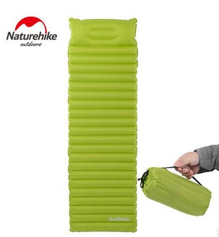 NatureHike Camping Pad Inflatable Mattress Widen Ultralight Outdoor Bed Camping <font><b>Air</b></font> Mat Seat Foldable Pads Sleeping TPU 2 Colors