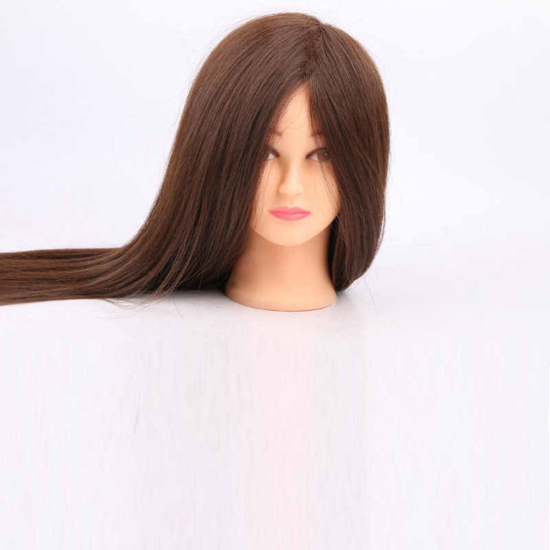 100% Real Hair Mannequin Head Professional Manikin Head With Human Hair Hairdressing Mannequins Hair Styling Head