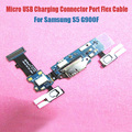 100% original fpc placa de carga puerto de carga usb cable de la flexión con el botón del tacto del sensor de micrófono para samsung s5 g900f freeshipping