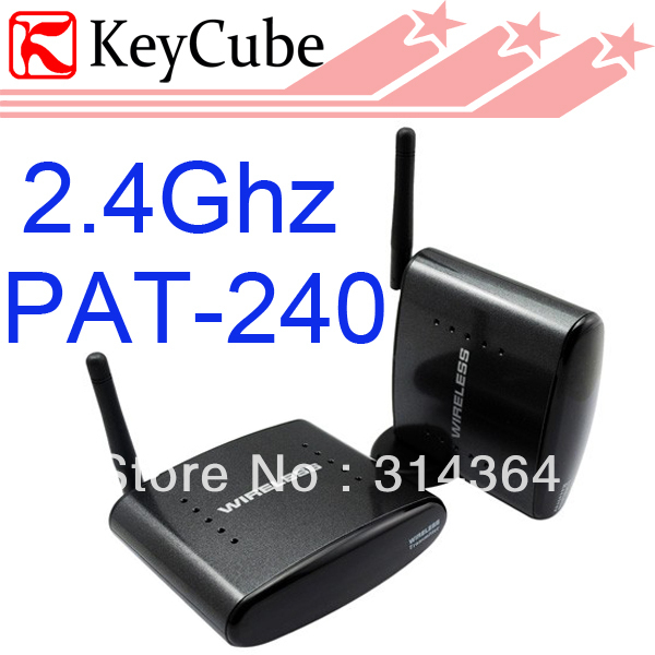 ФОТО AV Sender &IR Remote Extender Wireless Transmitter 250 2.4ghz wireless av sender PAT-240 Free Shipping