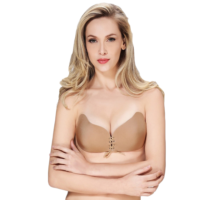 03374bb39 YJSFG HOUSE Hot Women Silicone Push-Up Strapless Backless Self-Adhesive Gel  Magic Stick Invisible Bra Intimates Convertible Bras
