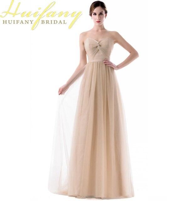 5aff42599 Sin tirantes de tul largo vestido de dama de longitud del piso azul real  rosa púrpura