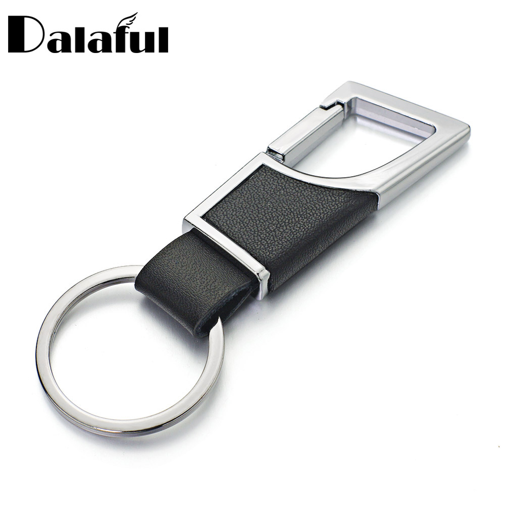 Dalaful Metal Leather Keyrings KeyChains For Men Women Car Business Key  Chains Rings Holder Chaveiro Innovative K361 45eb6c31f2