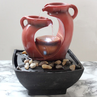 Resin Decorative Fountains Indoor Rockery Water Fountains Creative Crafts Desktop Home Decor Figurines Fengshui Water Fountain