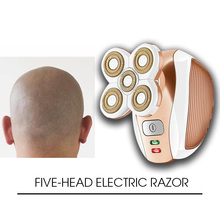 FIVE-Head Electric Shavers 5D Floating Heads Washable Beard Trimmer Razor Rechargeable Shaving Machine цена